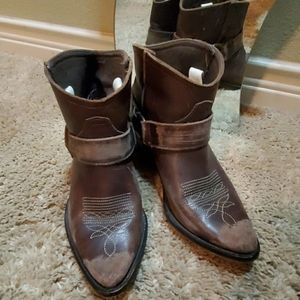 Steve Madden ankle cowboy booties